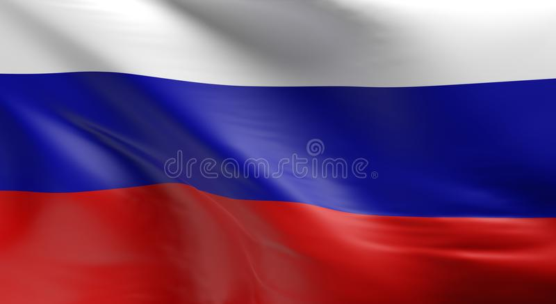 Markierungsfahne von Russland lizenzfreie abbildung