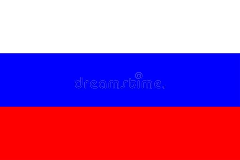 Markierungsfahne von Russland vektor abbildung