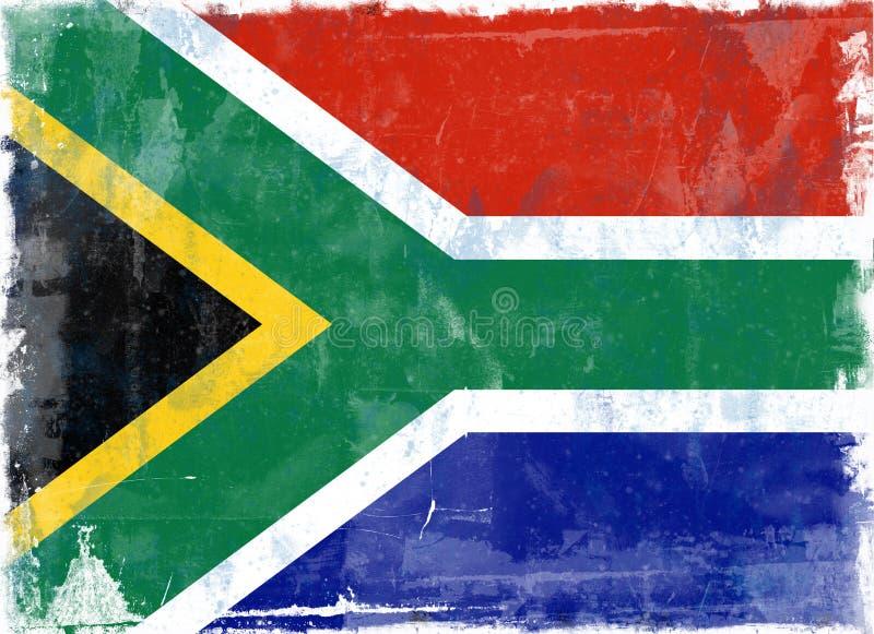 Markierungsfahne von Südafrika vektor abbildung