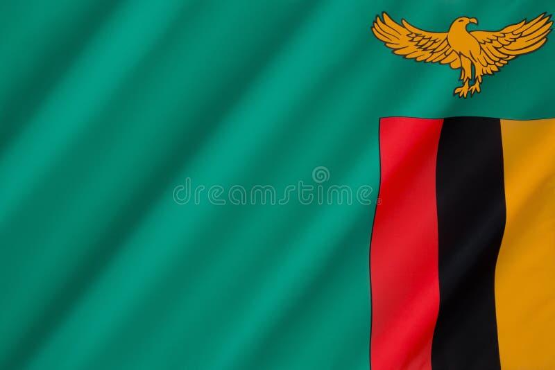 Markierungsfahne von Sambia stockbilder