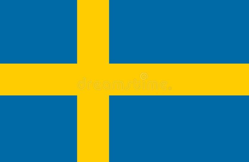 Markierungsfahne von Schweden lizenzfreie stockfotos