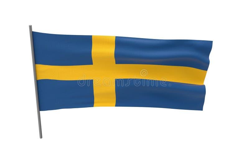 Markierungsfahne von Schweden stockfoto