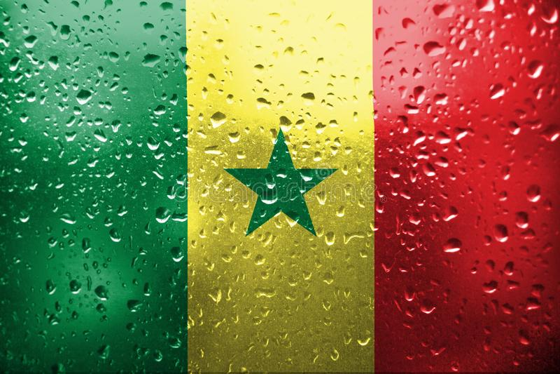 Markierungsfahne von Senegal stockfotos