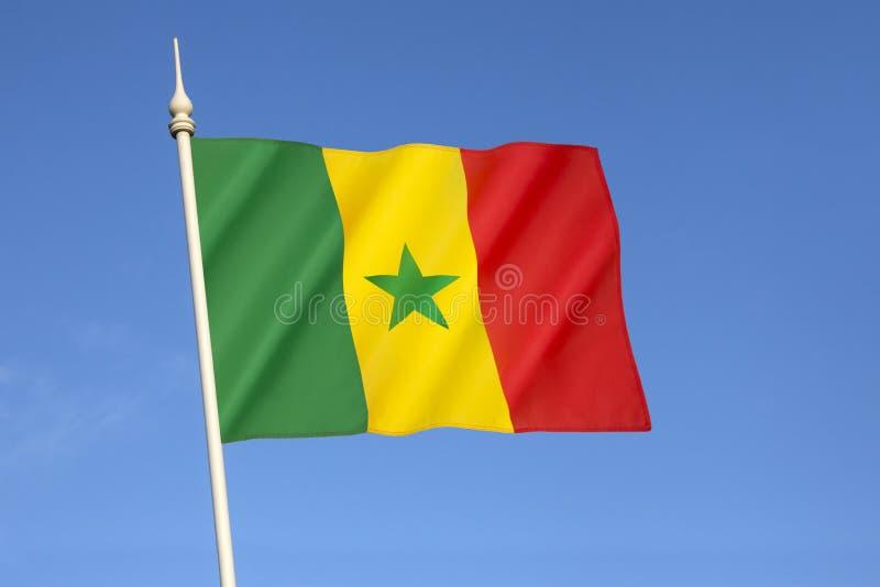 Markierungsfahne von Senegal lizenzfreie stockbilder