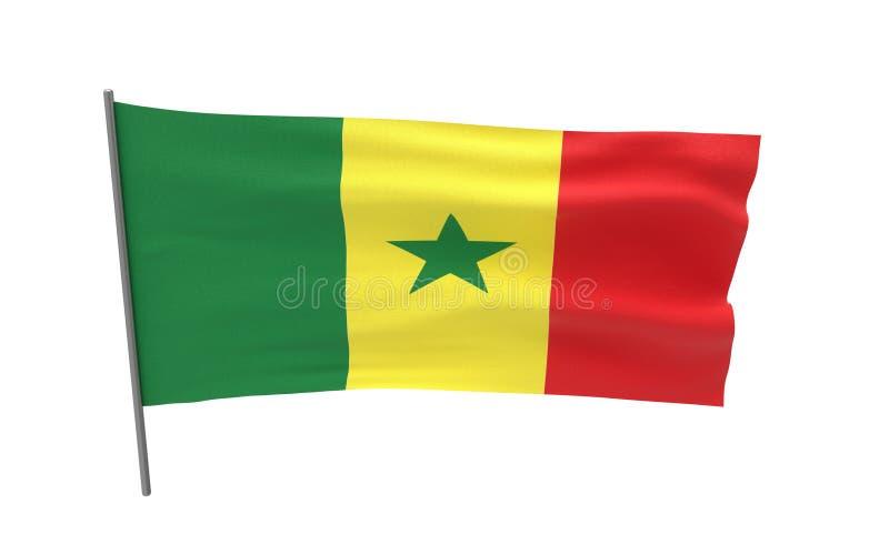 Markierungsfahne von Senegal stockfoto