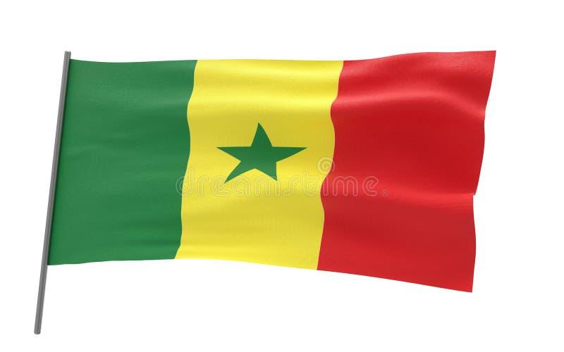 Markierungsfahne von Senegal stock abbildung