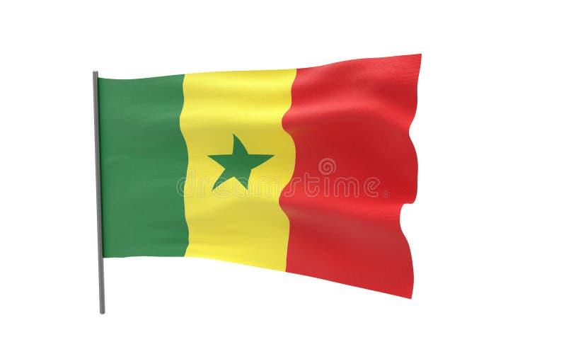 Markierungsfahne von Senegal vektor abbildung