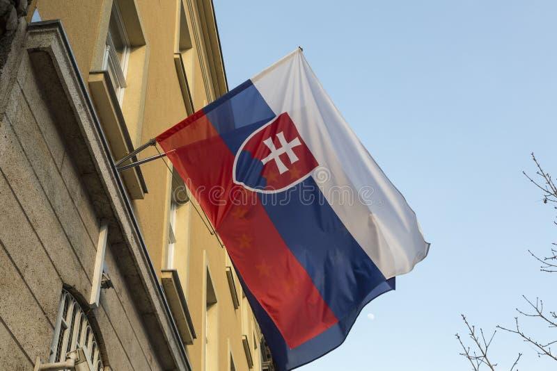 Markierungsfahne von Slowakei lizenzfreie stockfotografie