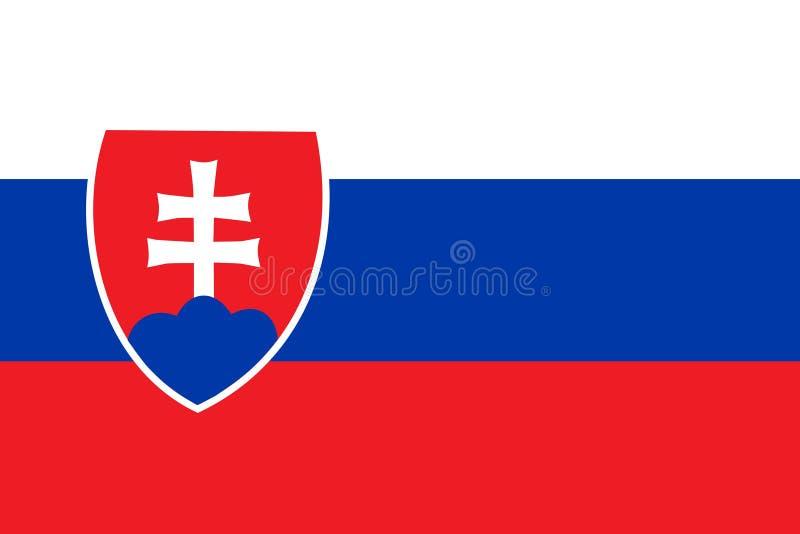 Markierungsfahne von Slowakei vektor abbildung