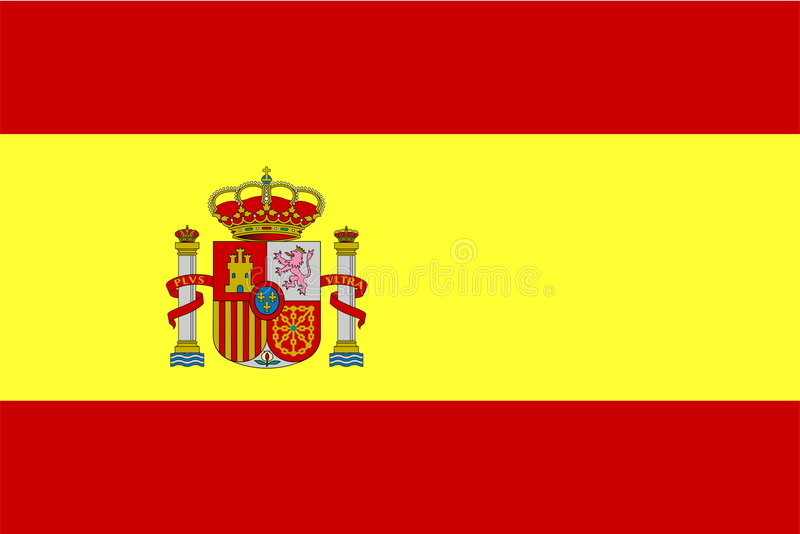 Markierungsfahne von Spanien lizenzfreie abbildung