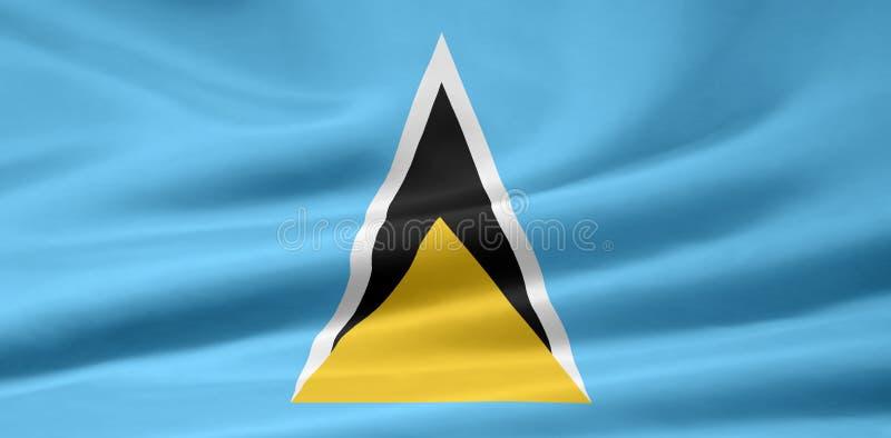 Markierungsfahne von St Lucia stock abbildung