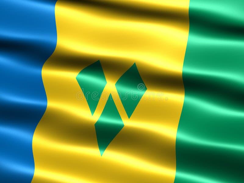 Markierungsfahne von Str. Vincent und die Grenadinen stock abbildung
