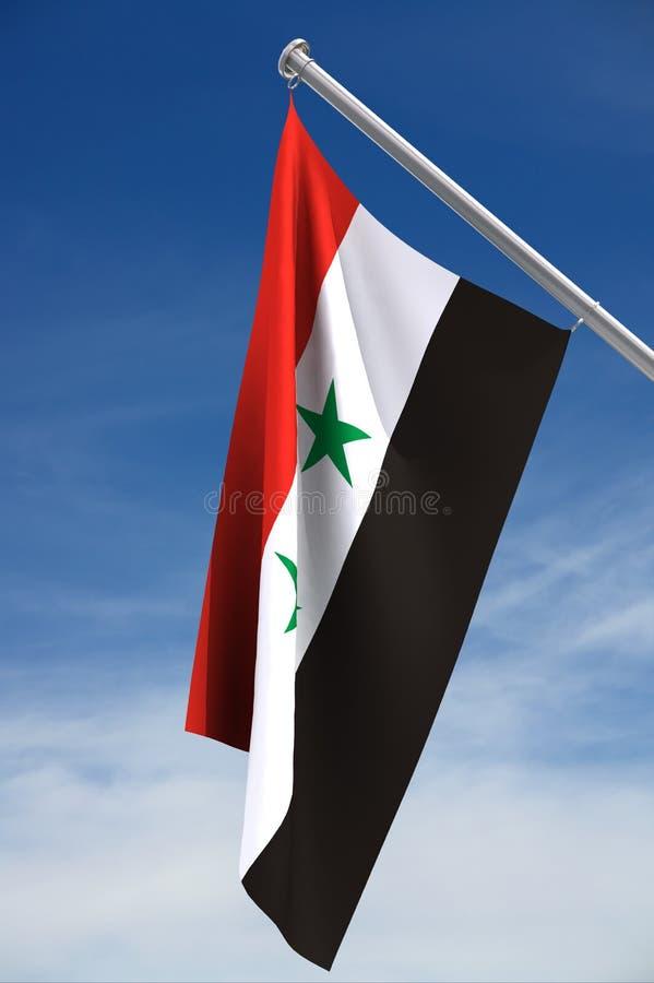 Markierungsfahne von Syrien lizenzfreie abbildung