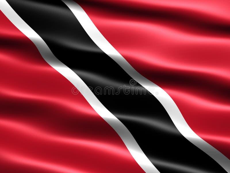 Markierungsfahne von Trinidad And Tobago vektor abbildung