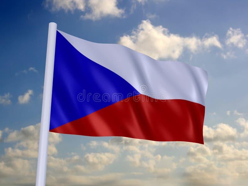 Markierungsfahne von Tschechen lizenzfreie abbildung