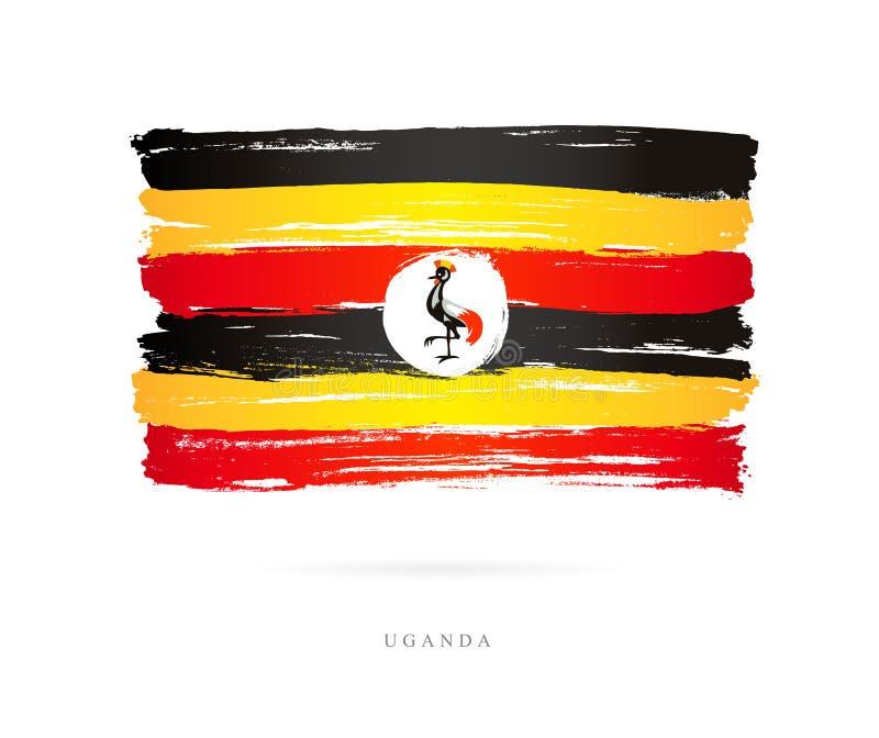 Markierungsfahne von Uganda Abstrakter Begriff stock abbildung