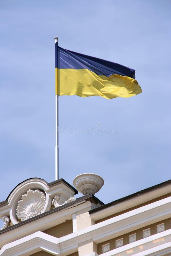 Markierungsfahne von Ukraine stockbild