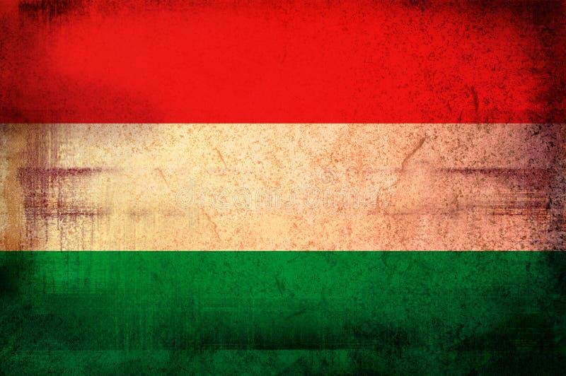 Markierungsfahne von Ungarn lizenzfreie abbildung