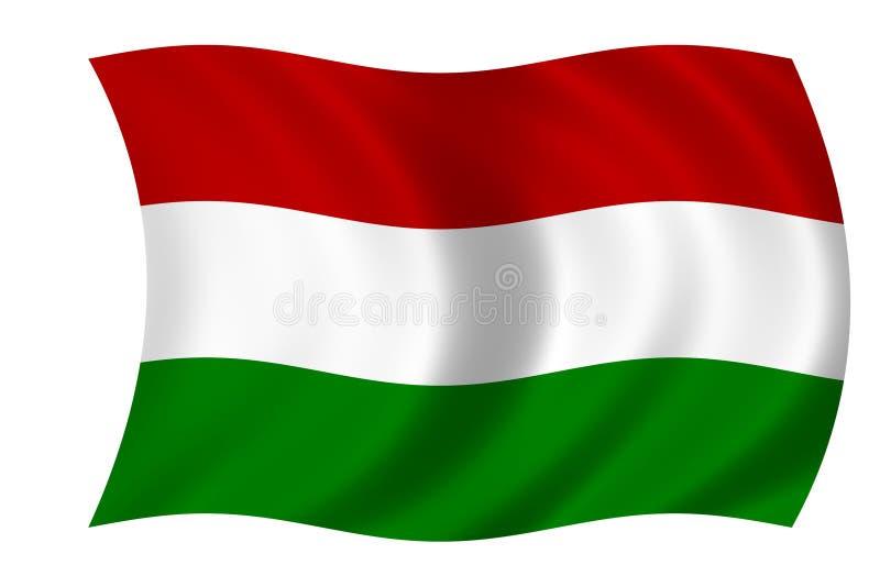 Markierungsfahne von Ungarn stock abbildung