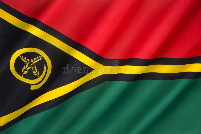 Markierungsfahne von Vanuatu lizenzfreie stockfotos