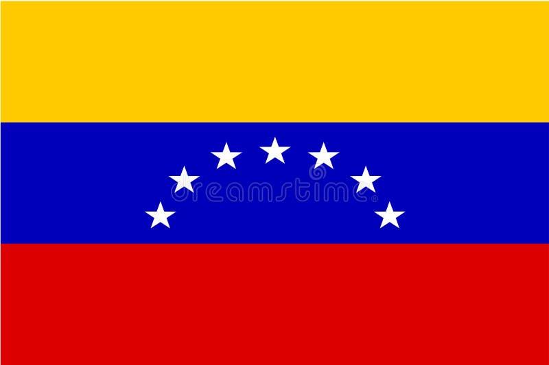 Markierungsfahne von Venezuela lizenzfreie abbildung