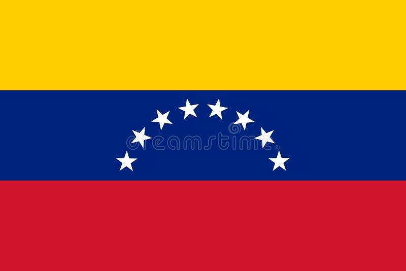 Markierungsfahne von Venezuela lizenzfreie stockbilder