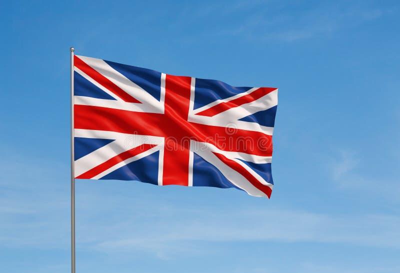 Markierungsfahne von Vereinigtem Königreich lizenzfreie stockfotos