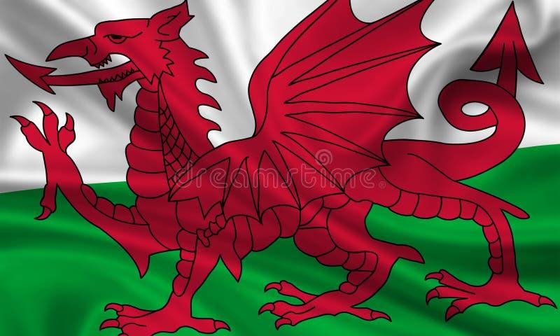 Markierungsfahne von Wales stock abbildung