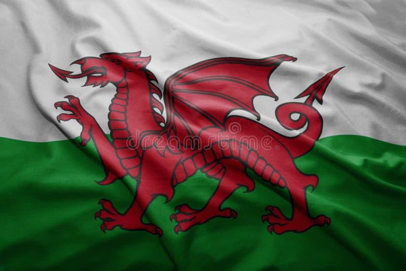 Markierungsfahne von Wales stockbild