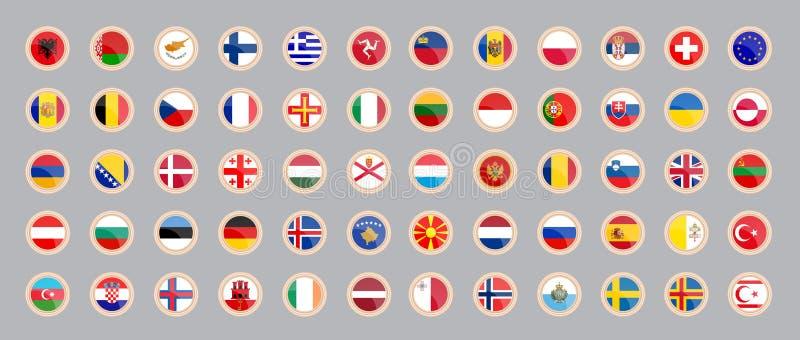Markierungsfahnen der L?nder von Europa stock abbildung