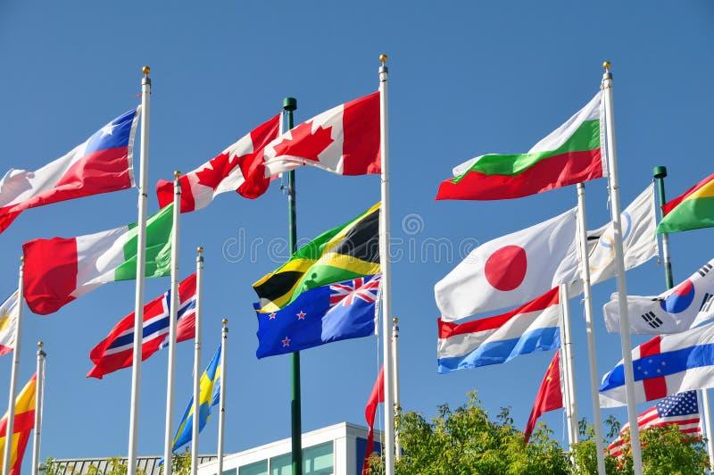 Markierungsfahnen der Welt stockfotografie