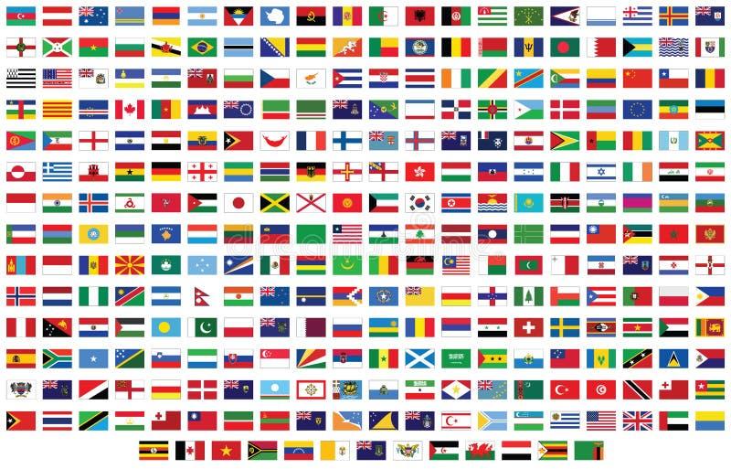 Markierungsfahnen der Welt lizenzfreie abbildung
