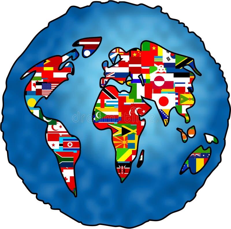 Markierungsfahnen-Planet lizenzfreie abbildung