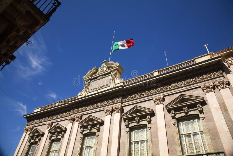 Markierungsfahnen-Regierungs-Gebäude Guanajuato Mexiko lizenzfreie stockfotografie