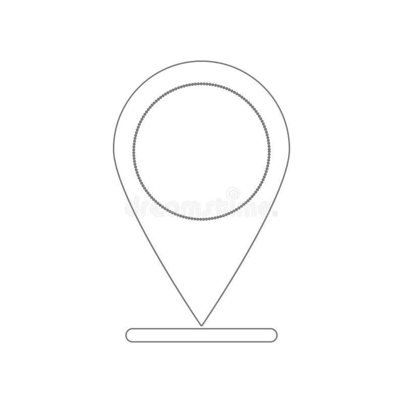 Markierungsikone Element des Netzes f?r bewegliches Konzept und Netz Appsikone Entwurf, d?nne Linie Ikone f?r Websiteentwurf und  lizenzfreie abbildung