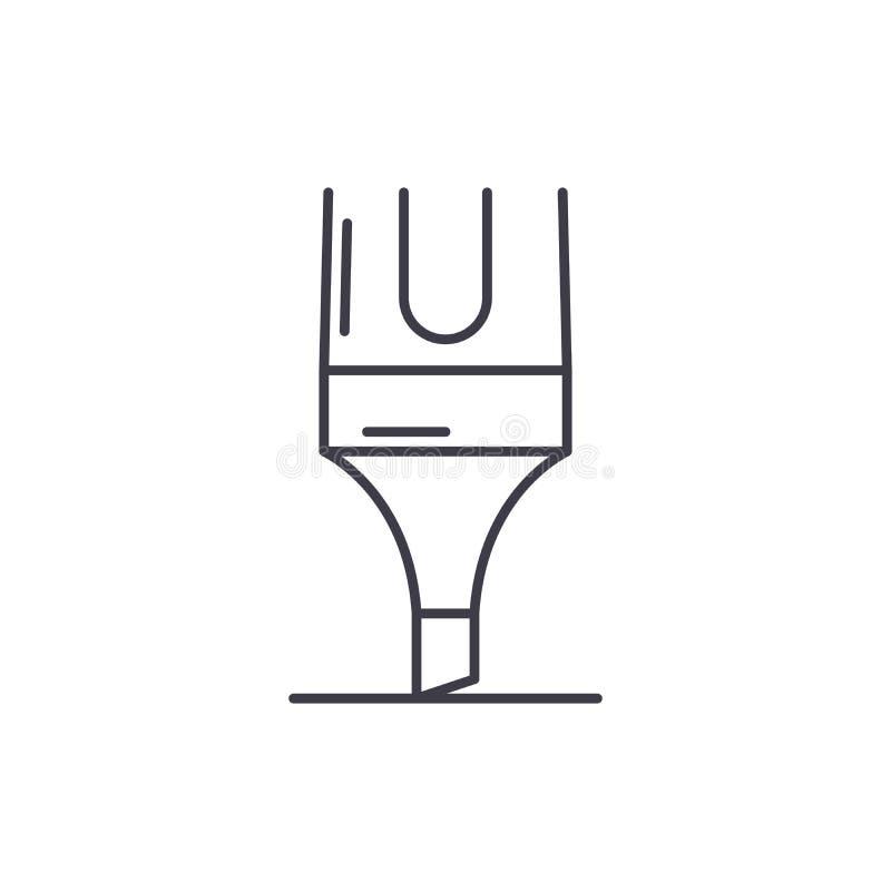Markierungslinie Ikonenkonzept Lineare Illustration des Markierungsvektors, Symbol, Zeichen stock abbildung