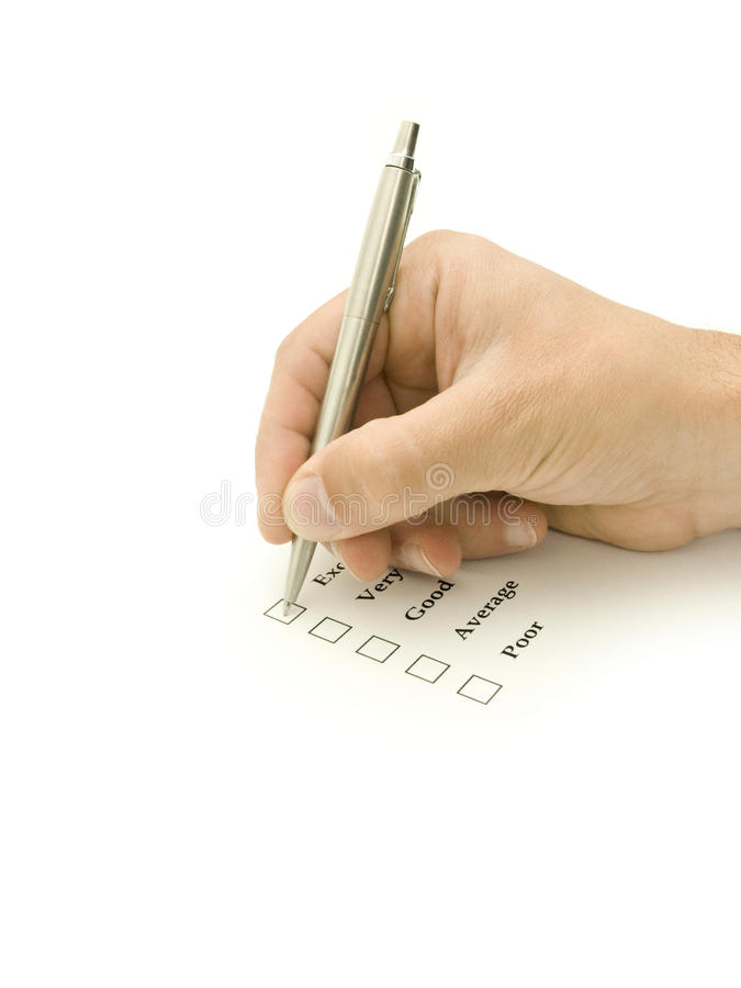 Marking a check box stock images