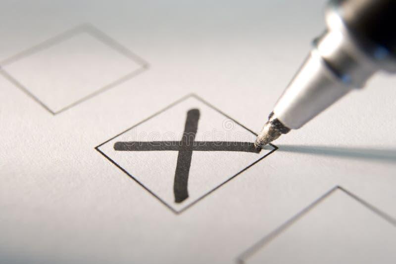 Download Marking A Tick Box stock image. Image of horizontal, democracy - 7742469
