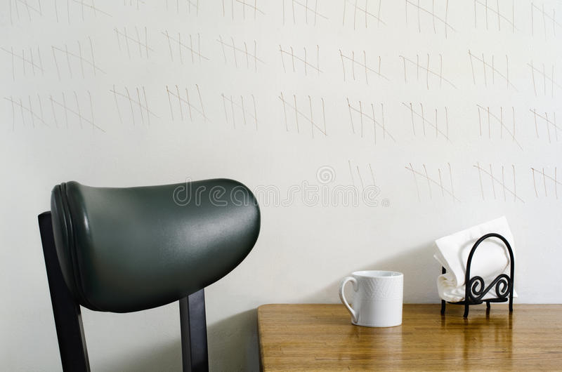 marking time on kitchen wall royalty free stock photos