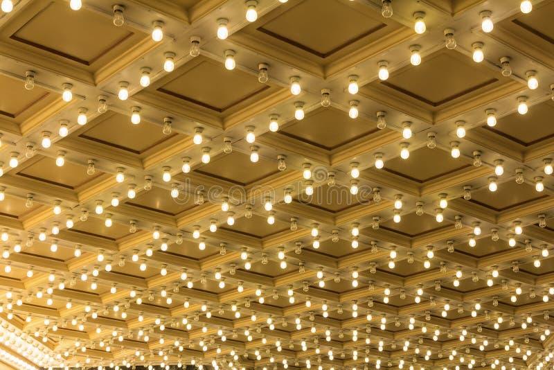 Markiz światła na Broadway teatru suficie zdjęcie royalty free