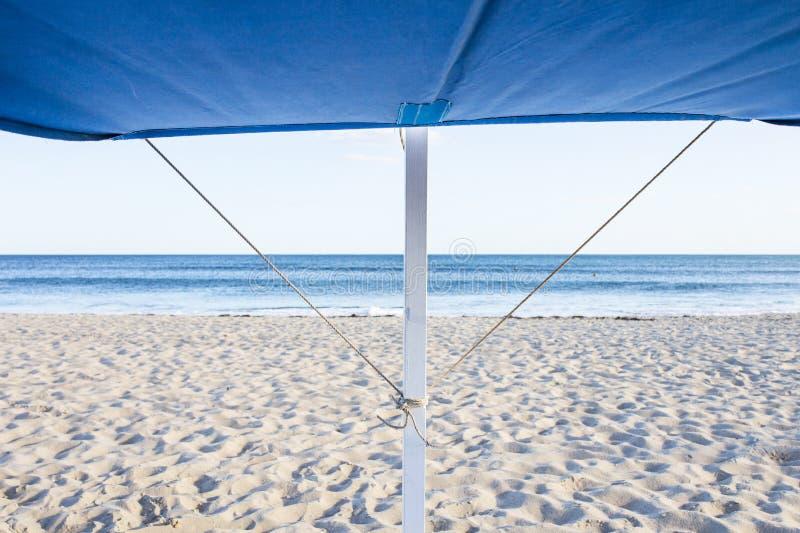 Markizy struktura dla plażowego krzesła fotografia royalty free