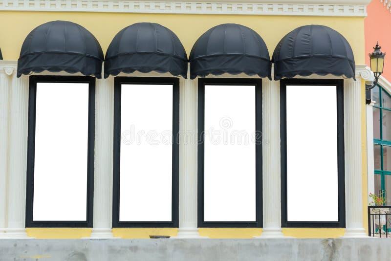 Markizy z kolor żółty ścianą obraz royalty free