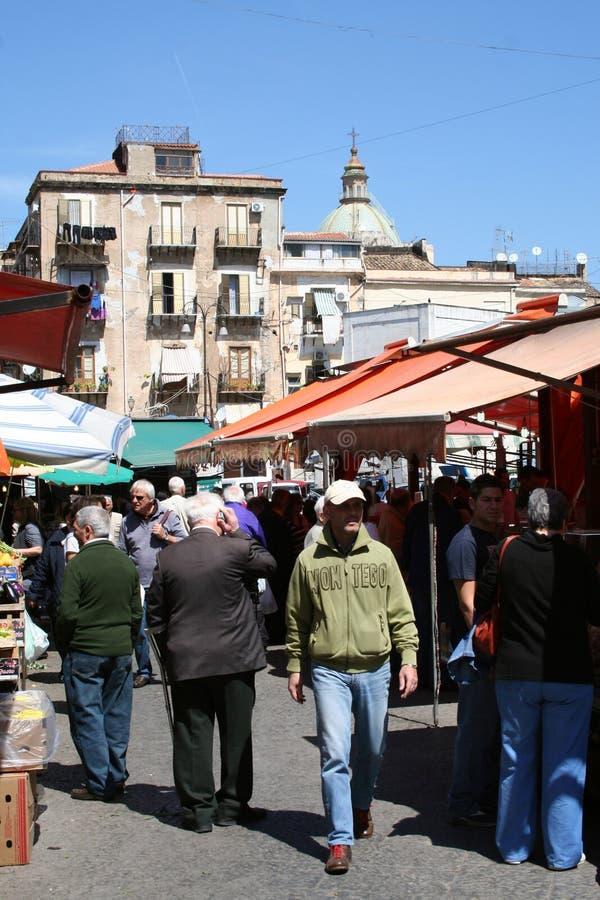Marknad av Palermo, Sicily royaltyfri fotografi