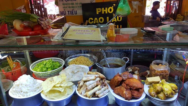Marknad för Hoi An gatamat fotografering för bildbyråer