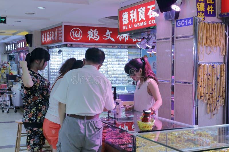 Marknad för Liwan jadesmycken i guangzhou royaltyfria bilder