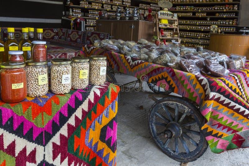 Marknad för organisk mat royaltyfria foton