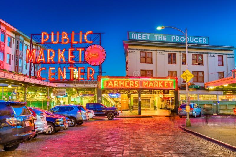 Marknad för pikställe Seattle fotografering för bildbyråer
