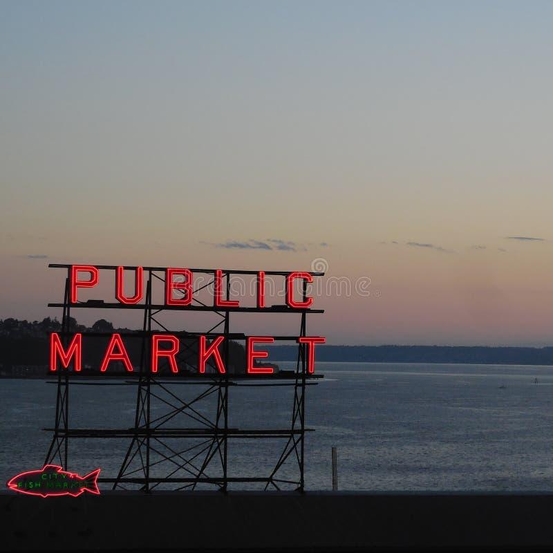 Marknad för pikställe seattle washington fotografering för bildbyråer