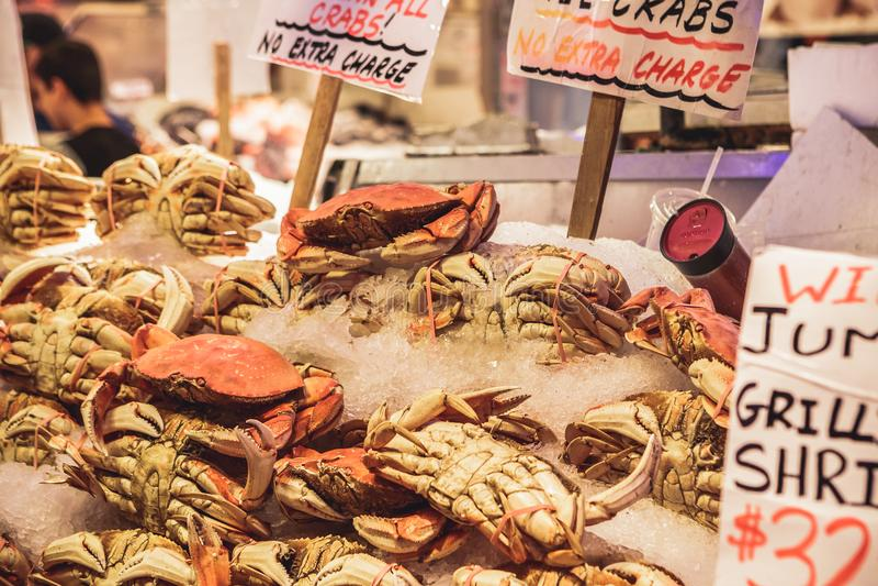 Marknad för pikställebönder i Seattle, USA arkivfoto