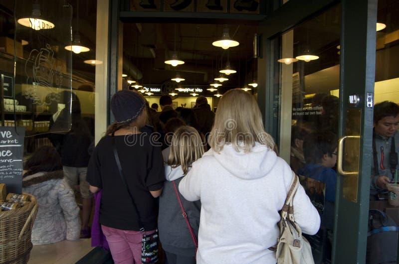Marknad för ställe för pik för Starbucks kaffelager royaltyfria bilder